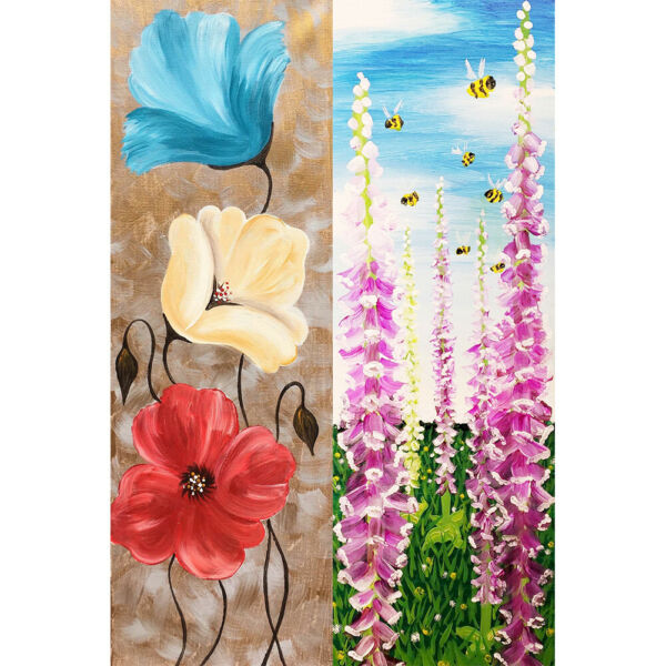 DeutschlandColorful Flowers Diamond Painting DIY Room Full Round Drill 5D Picture Kit
