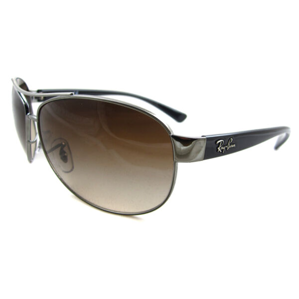 GroßbritannienRay-Ban Occhiali da Sole 3386 004/13 Gunmetal Marrone Gradiente Piccolo 63mm