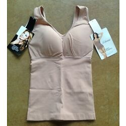 Kyпить New Leonisa Women Tummy Smoothing Tank with Back Support, Brown, XL на еВаy.соm