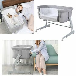 Kyпить Baby Bedside Crib Adjustable Height Infant Newborn Sleeper Bassinet Cradle Bed на еВаy.соm