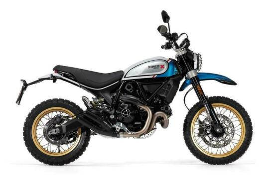 DUCATI SCRAMBLER DESERT SLED - SPARKLING BLUE COLOUR FOR 2021