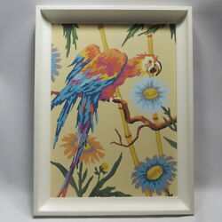 Kyпить Vtg Paint By Number Macaw Parrot Tropical Decor Framed на еВаy.соm
