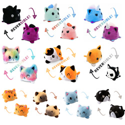 Kyпить Cat Plush Reversible Flip Stuffed Toy Soft Animal Home Accessories Baby Gift New на еВаy.соm