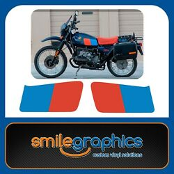 BMW R80 GS 1981-1987 - Tank Decals Stickers Graphics Blue Red