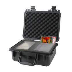 Kyпить Graded Card Storage Box PSA BGS SGC One Touch Medium Travel Size Waterproof Case на еВаy.соm