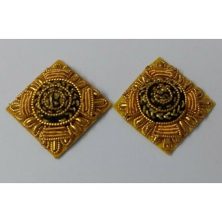 img-Genuine ARMY Issue Rank Pips Star Wire Braided Small Badge on Felt X2 ASPS314