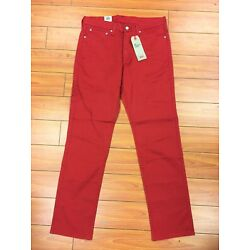 Levi's Men's NWT 541 Athletic Taper Stretch RED Jeans FREE SHIPPING WAIST 30 33