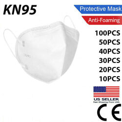 Kyпить 20/50/100 Pcs KN95 Protective Face Mask / N95 Stamped Disposable Masks KN 95 на еВаy.соm