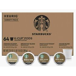 Kyпить Starbucks K-Cups Coffee Pods | Variety Pack for Keurig Brewers 64 Pods EXP 12/20 на еВаy.соm