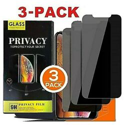 Kyпить iPhone 12 11 Pro Max XR Privacy Anti-Spy Tempered GLASS Screen Protector 3-PACK на еВаy.соm