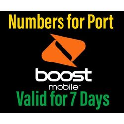 Kyпить Boost Phone Numbers to Port-In,Port line Fast Deliver 30 minutes на еВаy.соm