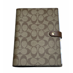 Kyпить Coach Notebook in Signature Canvas w/ Leather Details Khaki Lined Pages на еВаy.соm