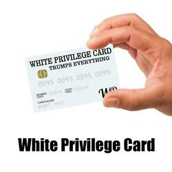 Kyпить 5/10 Pcs White Privilege Card Gag Novelty Wallet Size Collectable Laminated Gift на еВаy.соm