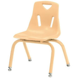 Berries Stacking Chairs with Powder-Coated Legs Camel 10'' Seat Height