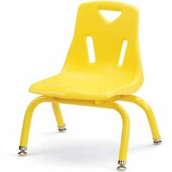 Berries 8118jc1007 Stacking Chair With Powder-coated Legs Yellow 8 In.