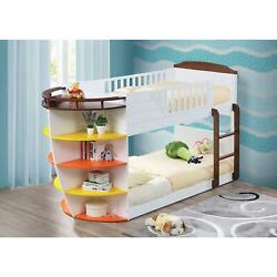 Acme Furniture Neptune Collection 37715 Twin Size Bunk Bed With Storage Shelves