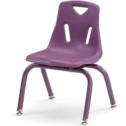 Berries Stacking Chairs with Powder-Coated Legs Purple 12'' Seat Height