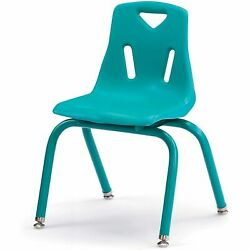 Jonti-Craft Berries Plastic Chair With Powder Coated Legs 14 Inch HT Teal