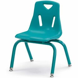 Jonti-Craft Berries Plastic Chair With Powder Coated Legs 12 Inch HT Teal