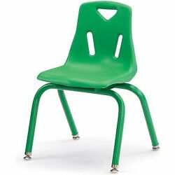 Jonti-Craft Berries Armless Classroom Stacking Chair Powder Coated Camel
