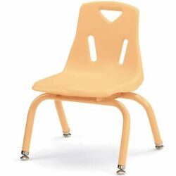 Berries Stacking Chairs with Powder-Coated Legs Camel 12'' Seat Height