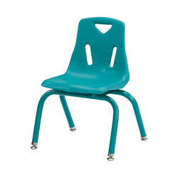 Berries Stacking Chairs with Powder-Coated Legs Teal 10'' Seat Height