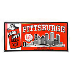 Kyпить NABA Iron City Beer TOC (Tin over Cardboard) Sign - Pittsburgh PA на еВаy.соm
