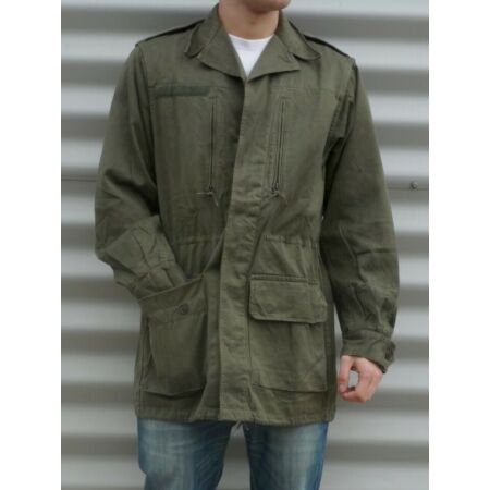 img-Vintage French army M64 olive field jacket combat coat surplus military m