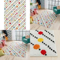 Kyпить Starbright Dandy Dots And Stripes White 5 Ft. X 7 Ft. Kids Area Rug на еВаy.соm