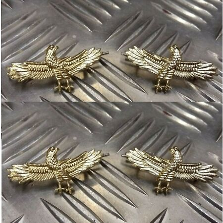 img-Genuine Military Issue Air Force Wingspan Eagle Metal Badges 2 Pairs MFCD7