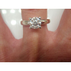Kyпить .88 EGL US Round Solitaire Diamond Engagement Ring SI1/I  .94 Ctw 14KW Size 7.25 на еВаy.соm