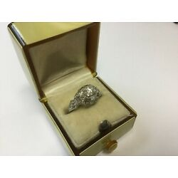 Kyпить Pristine 1920s Estate Platinum Garland .65ctw Diamond Engraved Engagement Ring на еВаy.соm