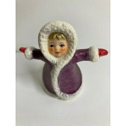 Kyпить Goebel Wintertime Children Figurine of Skating Girl in Purple Coat, 11702 на еВаy.соm