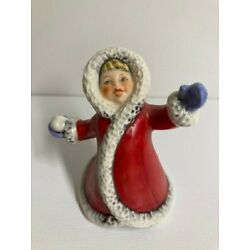 Kyпить Goebel Wintertime Children Figurine of Snowball Throwing Girl in Red Coat, 11703 на еВаy.соm