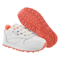 Kyпить Reebok Classic Leather Baby Girls Shoes Size 10, Color: White/Coral на еВаy.соm