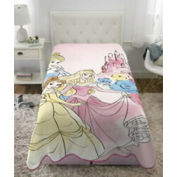 Kyпить Disney Princess Blanket Girls Bedding 62x90 new на еВаy.соm