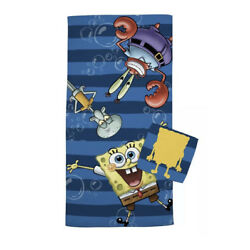 Kyпить Nickelodeon SpongeBob Squarepants 2 Piece Bath Towel + Washcloth Set NEW на еВаy.соm