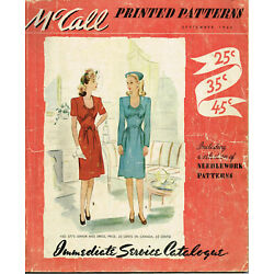 1940s Vintage McCall Counter Catalog Septemer 1944 Pattern Book Ebook Copy on CD