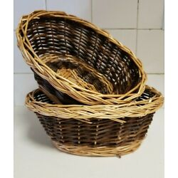 Oval Two Toned Hobby Lobby Baskets (2)