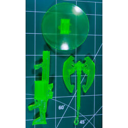 Custom Resin GL constructs for 6in. figure 1:12 Green Lantern axe shield