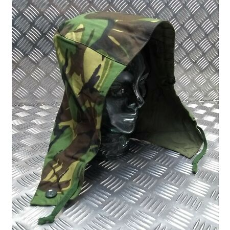 img-Genuine Vintage British Army Issue 66 Pattern Camo Cold Weather Hood Size 2 -NEW