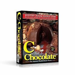 TDC Games Alphabet Mystery Puzzle Game, C Is For Chocolate, 2- 500 piece puzzles