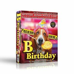 TDC Games Alphabet Mystery Puzzle Game - B Is For Birthday, 2- 500 piece puzzles