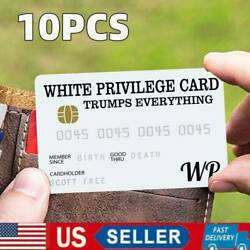 Kyпить 10PC White Privilege Card Gag Novelty Wallet Size Collectable Laminated -US на еВаy.соm
