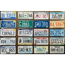 Kyпить Large lot colorful of 20 old license plates - bulk - many states - low shipping на еВаy.соm