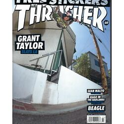 Thrasher July 2021     Grant Taylor    Free Stickers