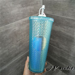 Blue Starbucks Water Cup Studded 2020 China Baby Cute Rabbit Topper Cold Tumbler