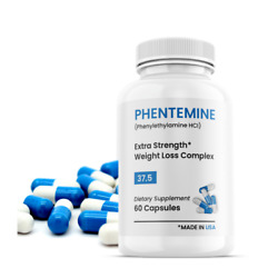 Official Phentemine®  Blue - White Appetite Suppressant Weight Control 37.5