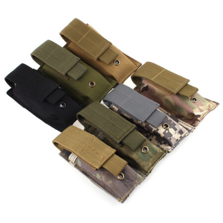 img-Military Tactical Flashlight Torch Belt Holster Holder Case Pouch Pack Portable