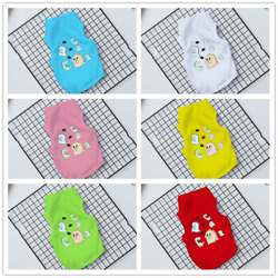 Pet Clothes With Cute Dinosuars Printing Vest For Summer Small Dogs And Cats US